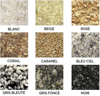 Teintes Granulats de Marbre