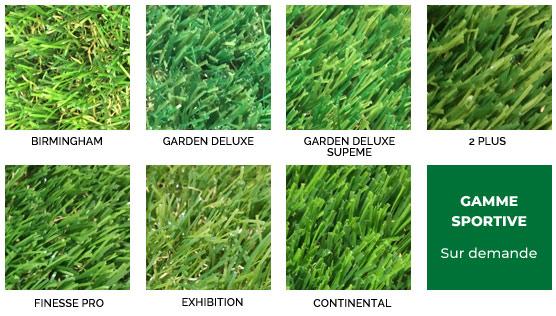 Gamme de pelouses synthétiques