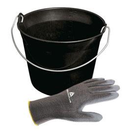Seau et gants
